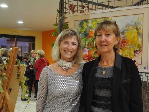 Catherine maury a gauche sur la photo et l invitee d honneur genevieve risser blog